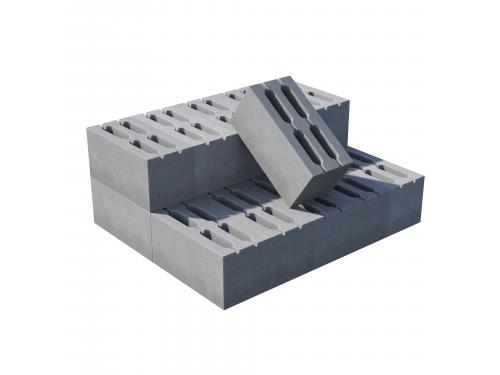Блок пустотелый пескобетонный, М 45