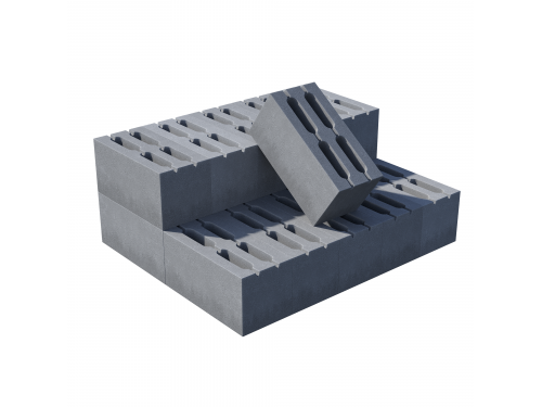 Блок пустотелый пескобетонный, М 75