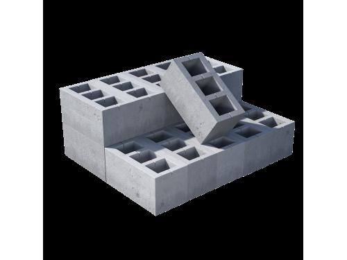Блок пустотелый пескоцементный, М 45