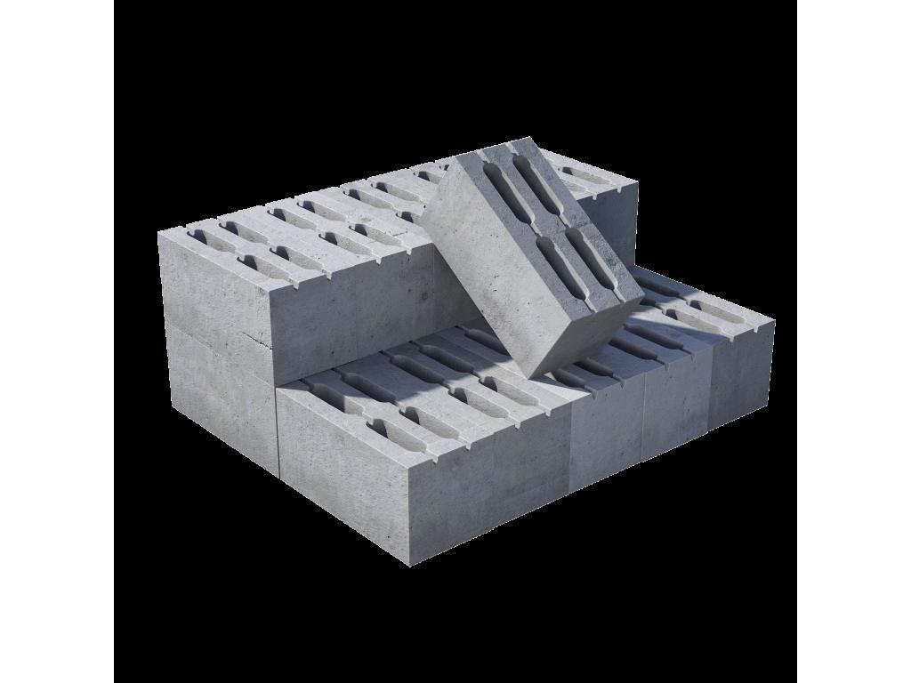 Блок пустотелый пескоцементный, М 75