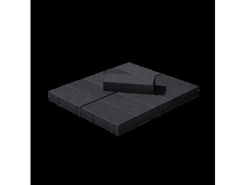 Тротуарная плитка Брусчатка чёрная