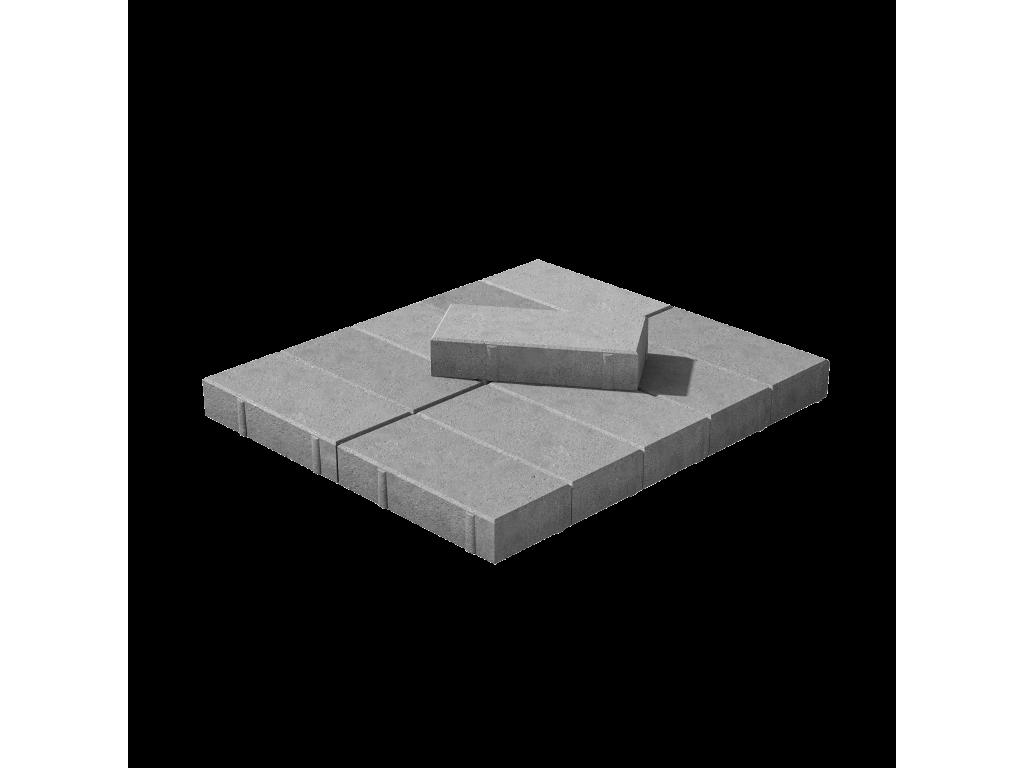 Тротуарная плитка Брусчатка серая