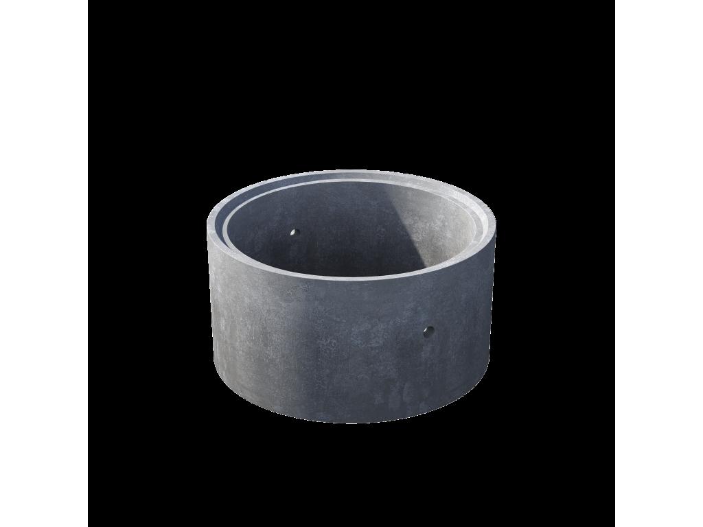 Кольцо стеновое с замком КС 10.6ч пескобетон