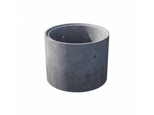 Кольцо стеновое с замком КС 10.9ч пескобетон