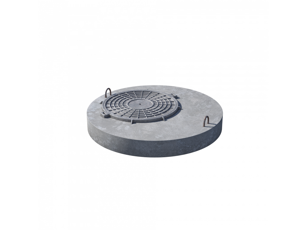 Плита перекрытия (крышка) ПП 10.1 (люк встроен) пескобетон