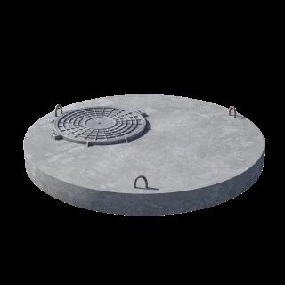 Плита перекрытия (крышка) ПП 15.1 (люк встроен) пескобетон