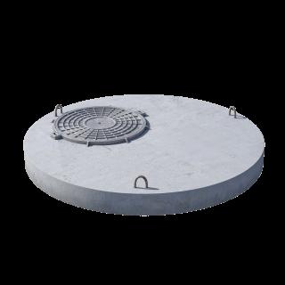 Плита перекрытия (крышка) ПП 15.1 (люк встроен) железобетон