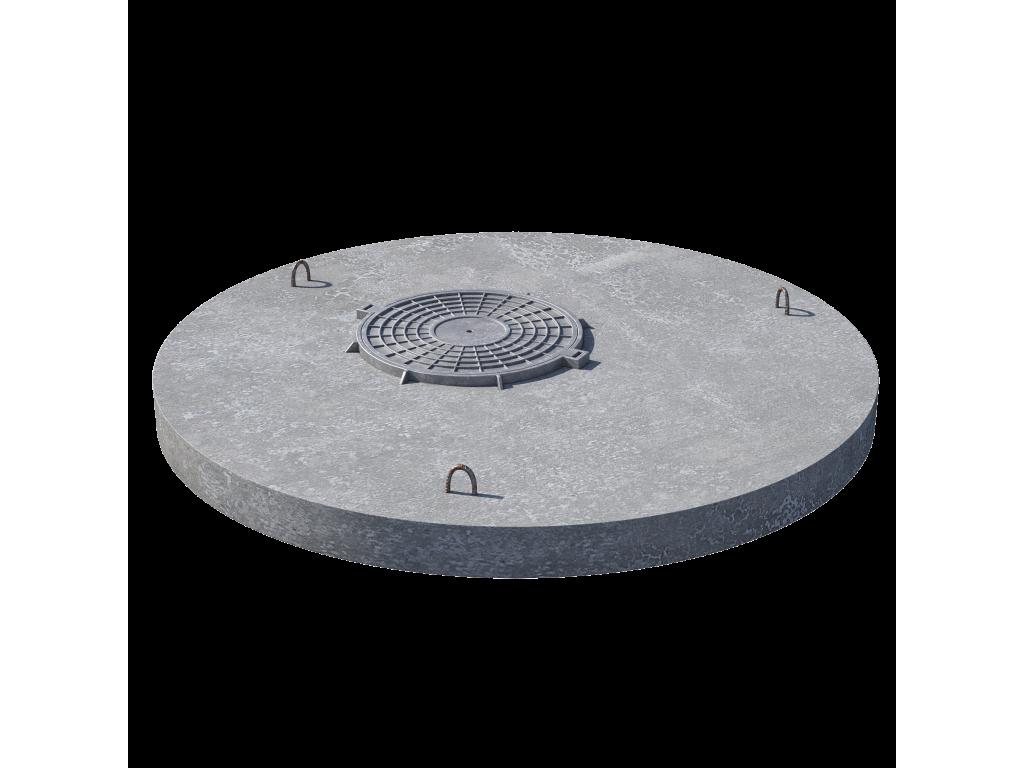 Плита перекрытия (крышка) ПП 20.1 (люк встроен) пескобетон