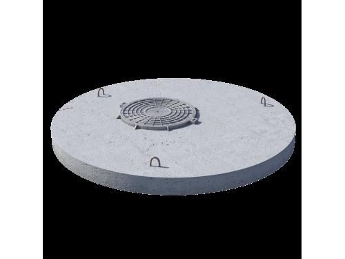 Плита перекрытия (крышка) ПП 20.1 (люк встроен) железобетон