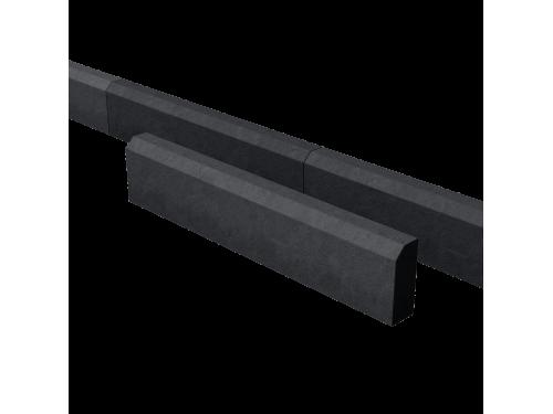 Поребрик дорожный тротуарный черный 1000*200*80 мм