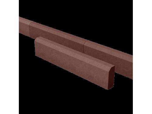 Поребрик дорожный тротуарный красный 1000*200*80 мм