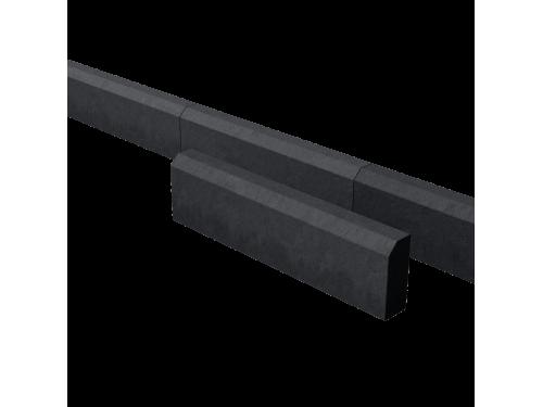 Поребрик дорожный тротуарный черный 780*200*80 мм