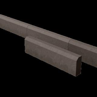 Поребрик дорожный тротуарный коричневый 780*200*80 мм