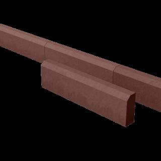 Поребрик дорожный тротуарный красный 780*200*80 мм
