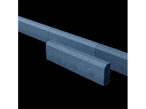 Поребрик дорожный тротуарный синий 780*200*80 мм