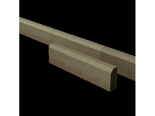 Поребрик дорожный тротуарный зеленый 780*200*80 мм