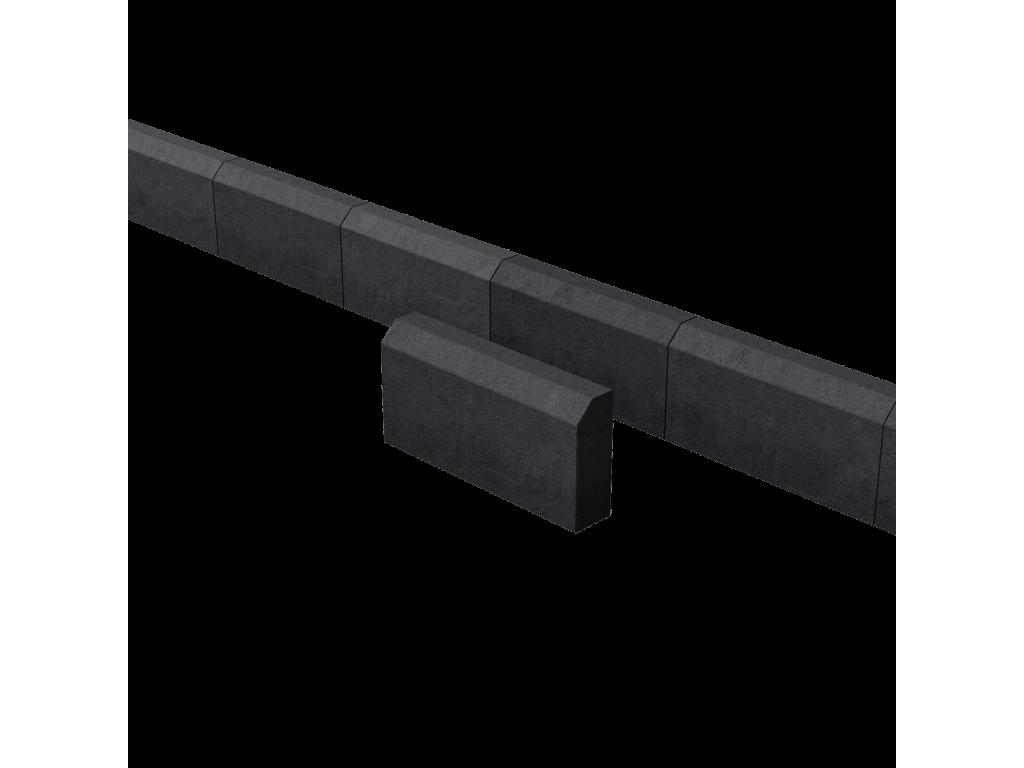 Поребрик садовый черный 390*190*70 мм