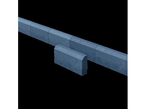 Поребрик садовый синий 390*190*70 мм