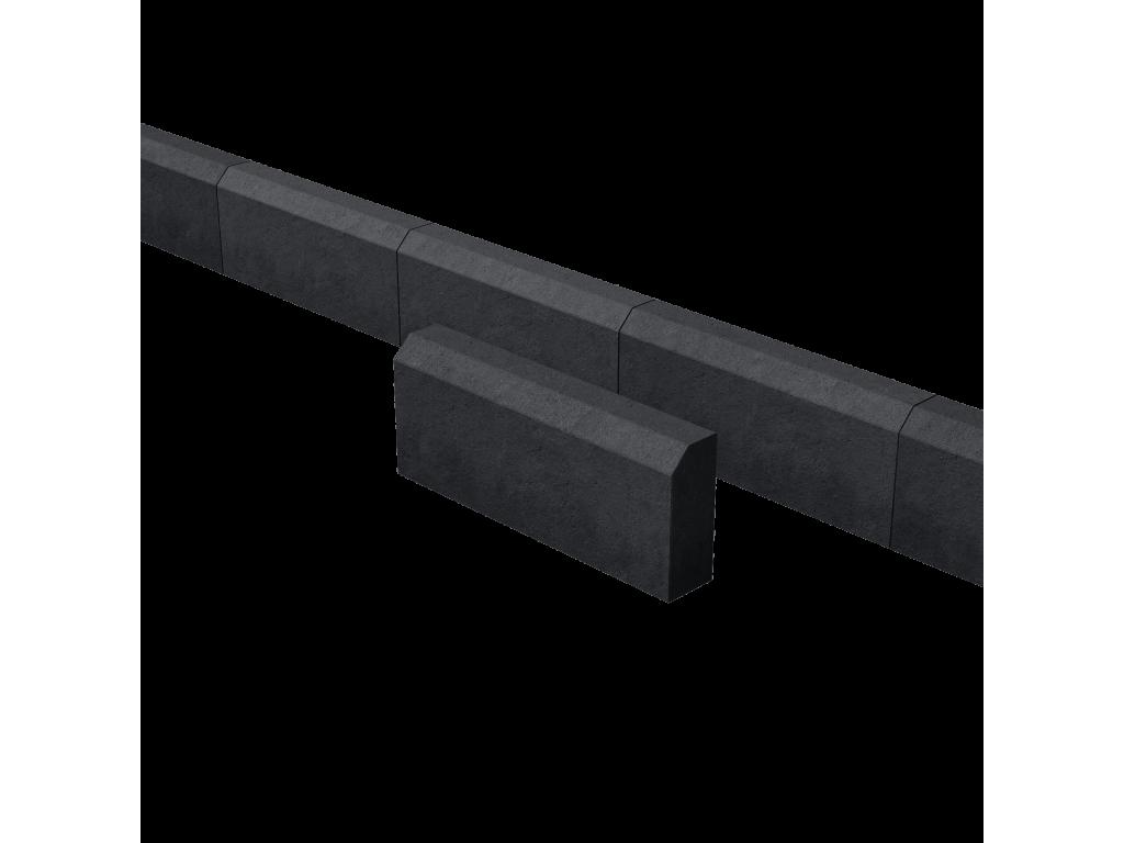 Поребрик садовый черный 500*200*80 мм