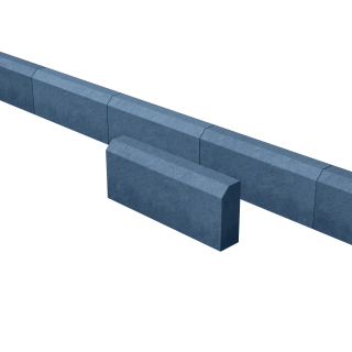 Поребрик садовый синий 500*200*80 мм
