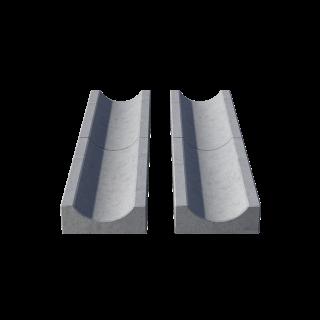 Водосток (лоток садовый) серый