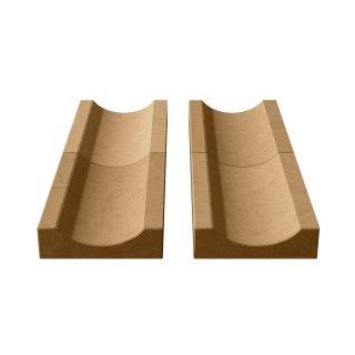 Водосток (лоток садовый) желтый