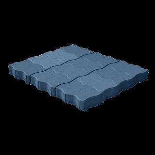 """Тротуарная плитка """"Волна"""" синяя"""