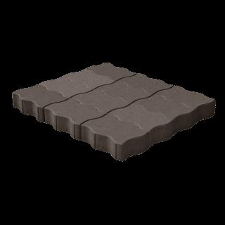 """Тротуарная плитка """"Волна"""" коричневая"""
