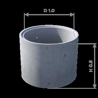 Кольцо стеновое с замком КС 10.9ч