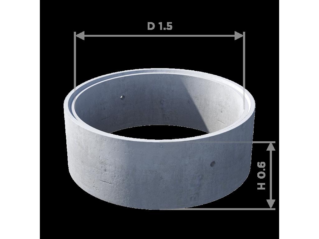 Кольцо стеновое с замком КС 15.6ч