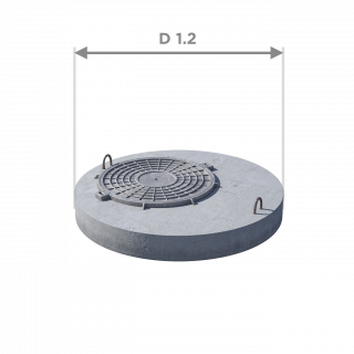 Плита перекрытия (крышка) ПП 10.1 (люк встроен)