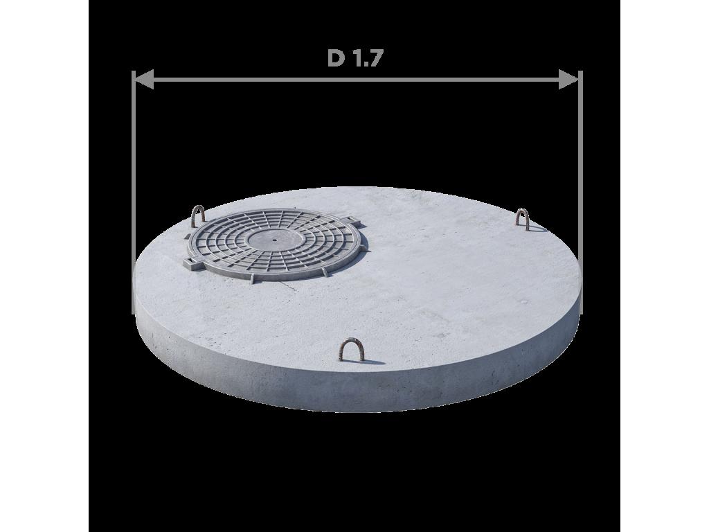 Плита перекрытия (крышка) ПП 15.1 (люк встроен)
